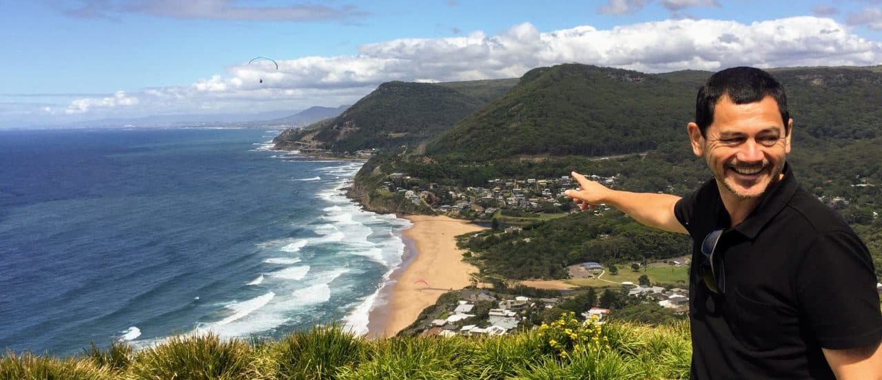 Steve @ Bald Hill lookout - Wildlife, Waterfalls and Wine full day tour from Sydney
