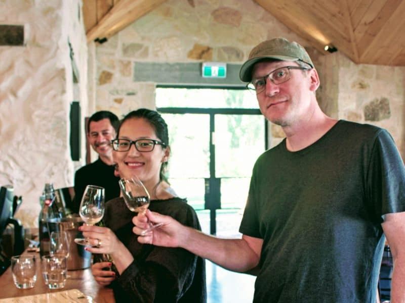 Tasting cool-climate wine, Southern Highlands, NSW - Wildlife, Waterfalls & Wine day tour from Sydney