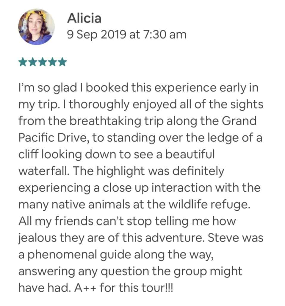 Wildlife-Waterfalls-Wine-review-Alicia-9-Sep-2019.jpg-Wonderful experience! Great host!