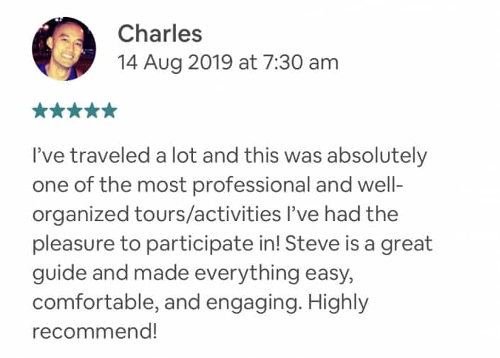 Wildlife-Waterfalls-Wine-review-Charles-14-Aug-2019.jpg-I've traveled a lot and this was absolutely one of the most professional and well-organized tours/activities I've had the pleasure to participate in! Steve is a great guide and made everything easy, comfortable, and engaging. Highly recommend!
