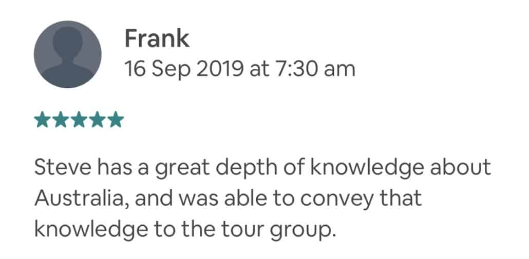 Wildlife-Waterfalls-Wine-review-Frank-16-Sep-2019.jpg-Steve has a great depth of knowledge about Australia, and was able to convey that knowledge to the tour group.