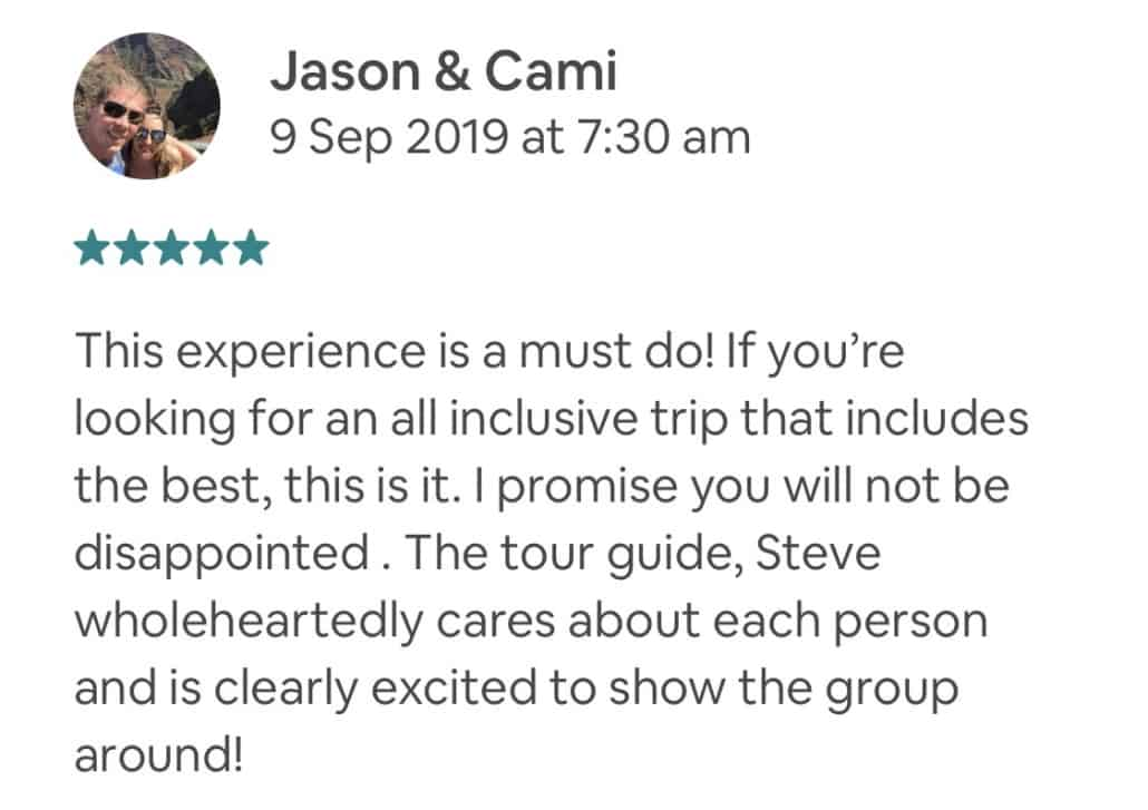 Wildlife-Waterfalls-Wine-review-Jason&Cami-9-Sep-2019.jpg-This experience is a must do! If you're looking for an all inclusive trip that includes the best, this is it. I promise you will not be disappointed . The tour guide, Steve wholeheartedly cares about each person and is clearly excited to show the group around!