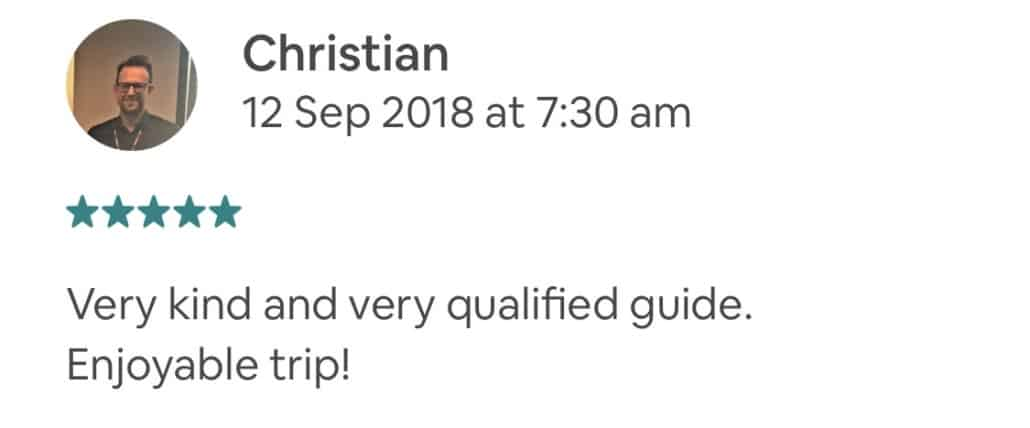 Very kind and very qualified guide. Enjoyable trip!