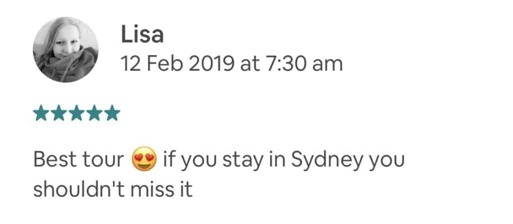 Best tour 😍 if you stay in Sydney you shouldn't miss it
