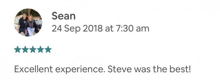 Excellent experience. Steve was the best!